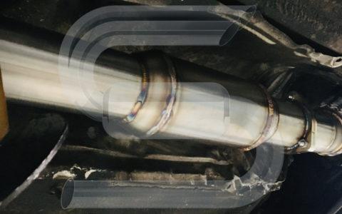 Sonderanfertigung Hosenrohr VW Golf3 VR6turbo