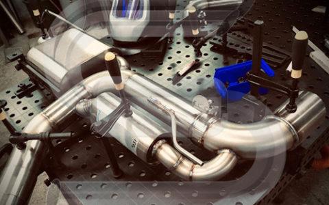 Abgasanlage 89mm mit Klappe